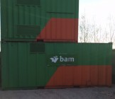 Container 20ft verdeeld in 2 compartimenten